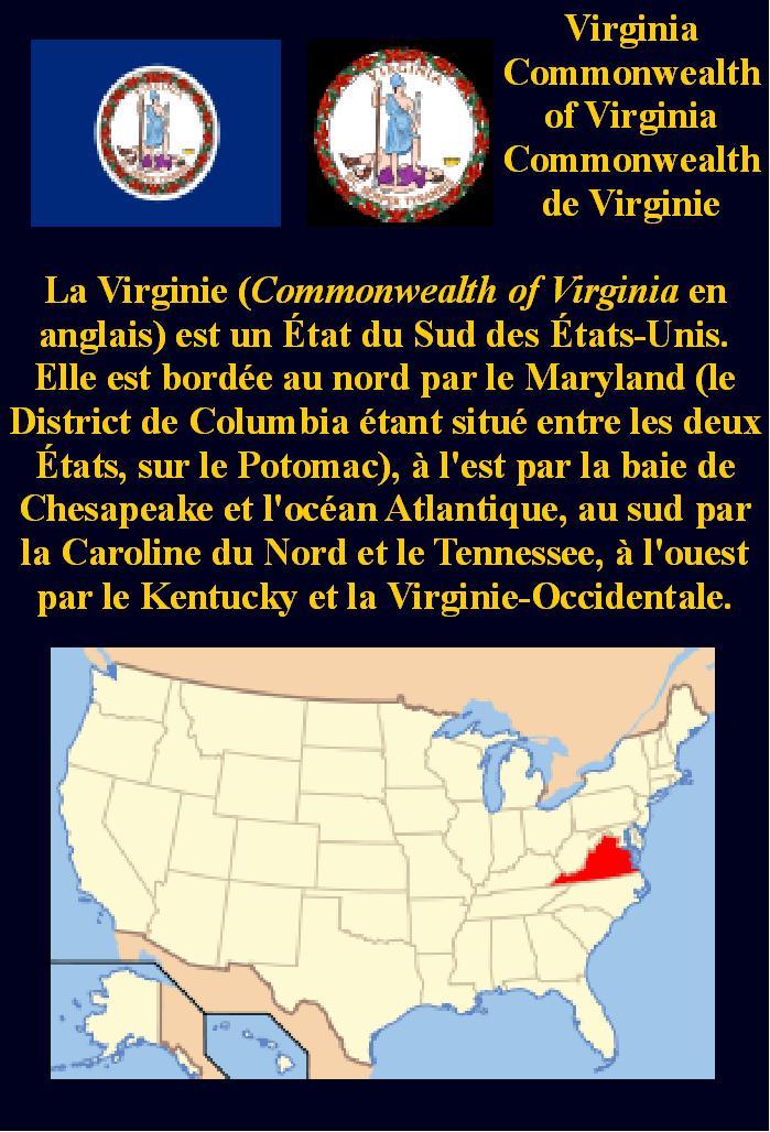 États des États-Unis Virginie